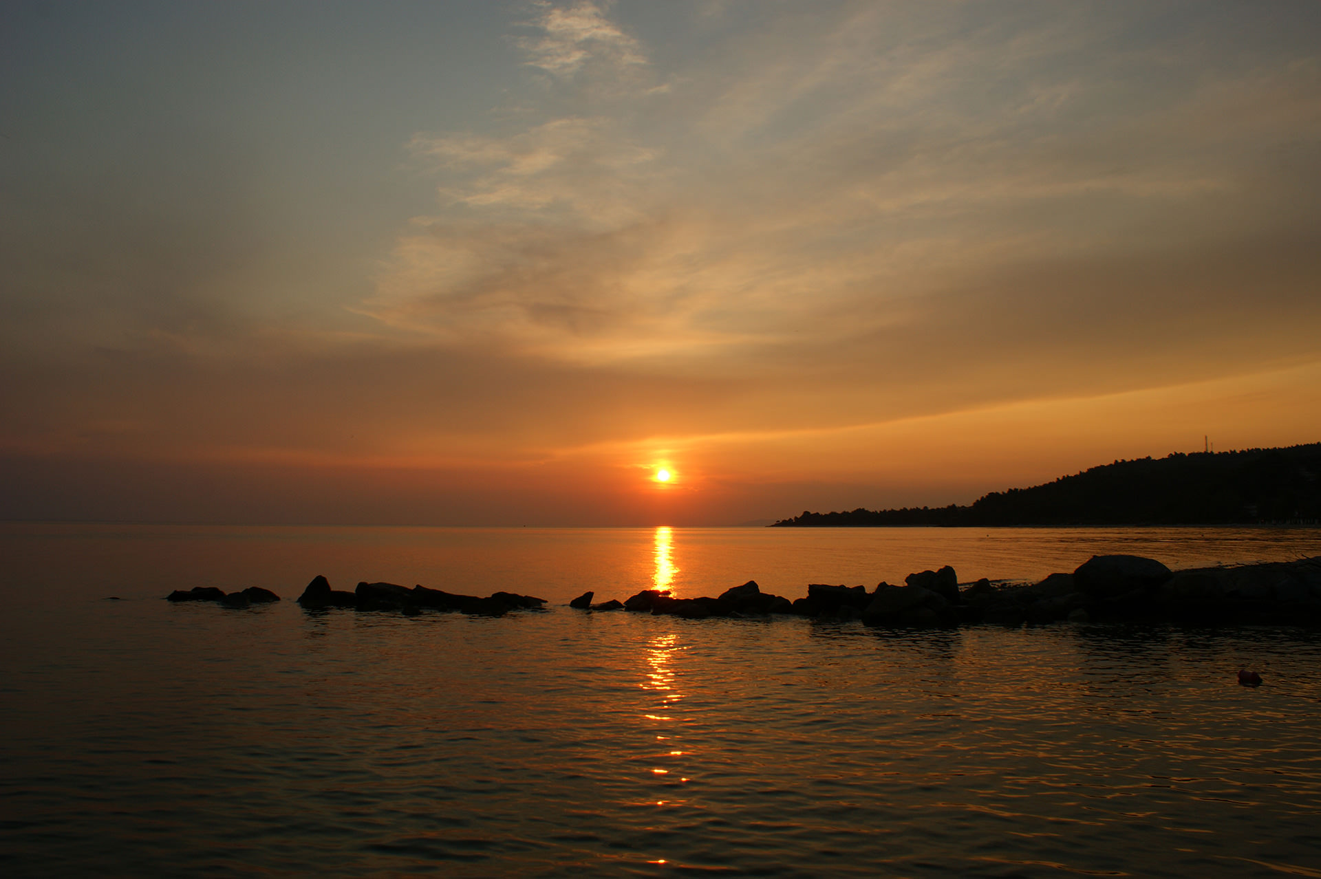 Sunset in Chalkidiki